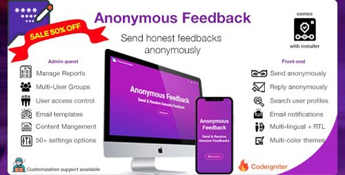 CodeCanyon - Anonymous Feedback v2.10.2 - Get honest feedback - 20633311