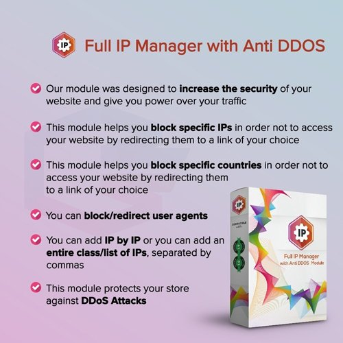 Full IP Manager with Anti DDOS v1.0.4 - PrestaShop Module