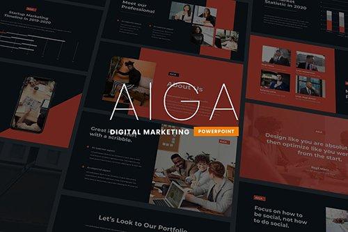 Aiga - Digital Marketing Powerpoint