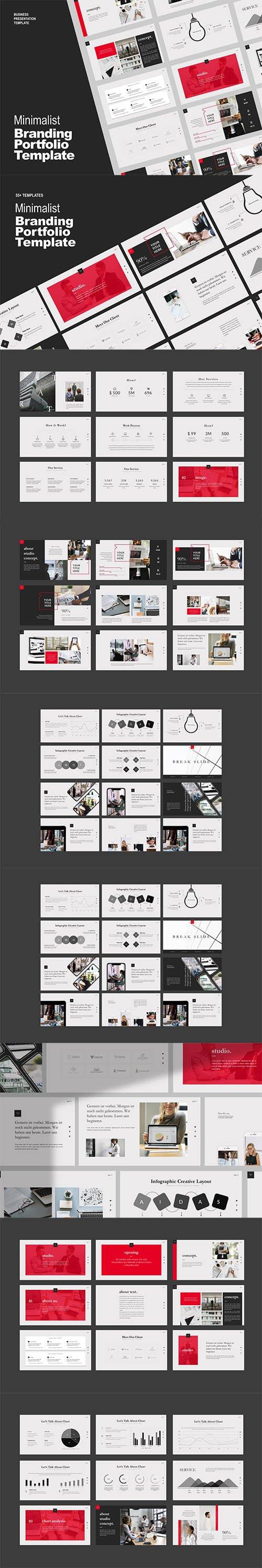 Studio Business Portfolio Powerpoint, Keynote and Google Slide Template