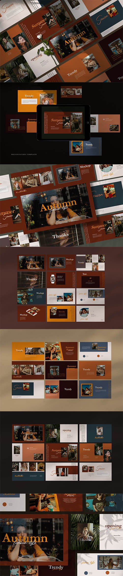Autumn Creative Business Powerpoint, Keynote and Google Slide Template