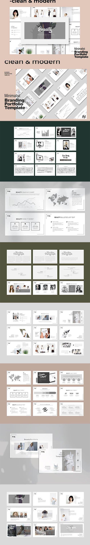 Beauty Minimal Business Portfolio Powerpoint, Keynote and Google Slide Template