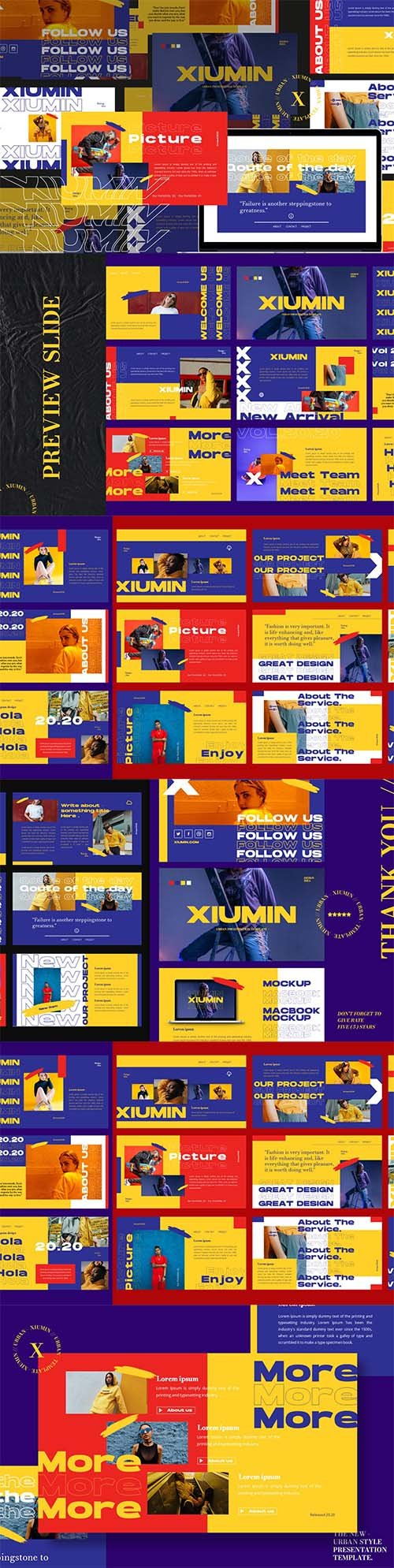 Business Brand Color Powerpoint, Keynote and Google Slide Template