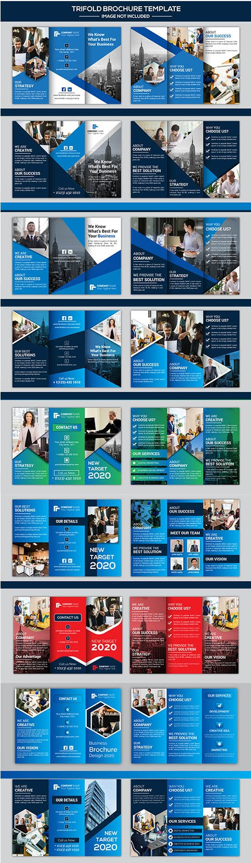 Company Business Trifold Brochure Set