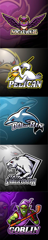 5 Esport Logo Mascot Design