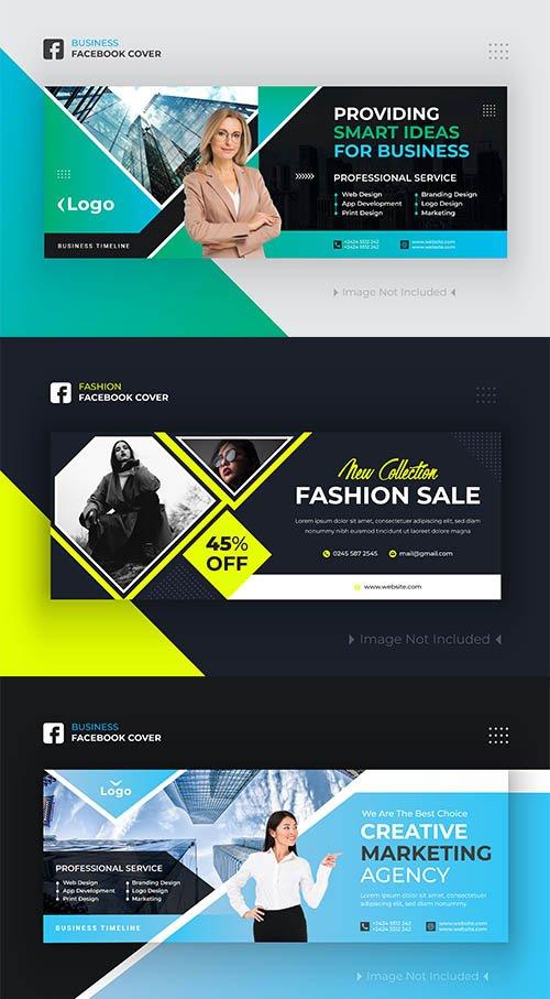 Business and Fashion Facebook Cover Design Premium