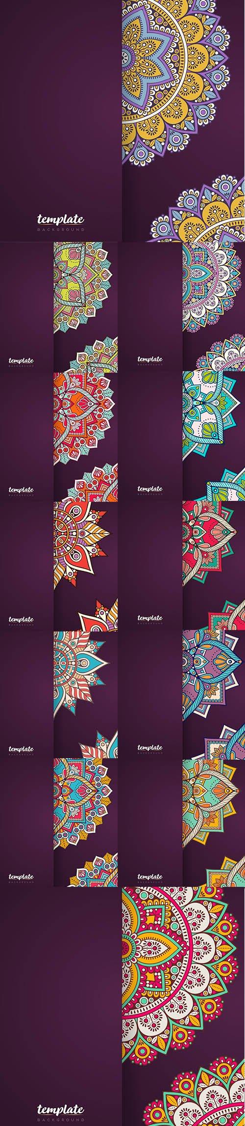 Creative Mandala Background Set