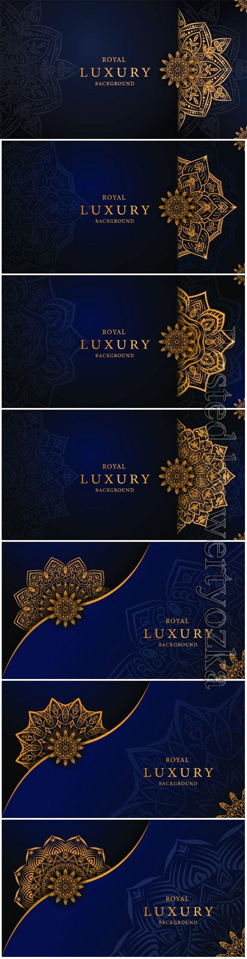 Luxury decorative mandala vector background # 4