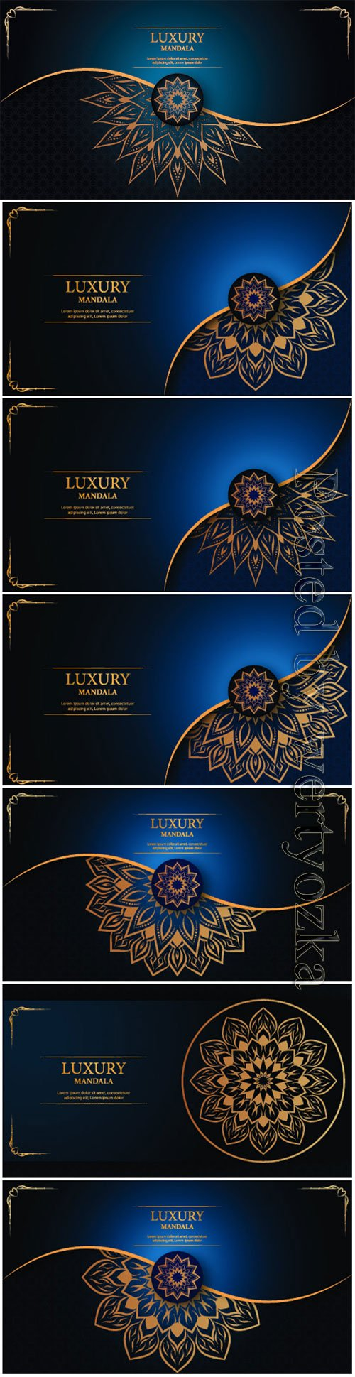 Luxury decorative mandala vector background # 3