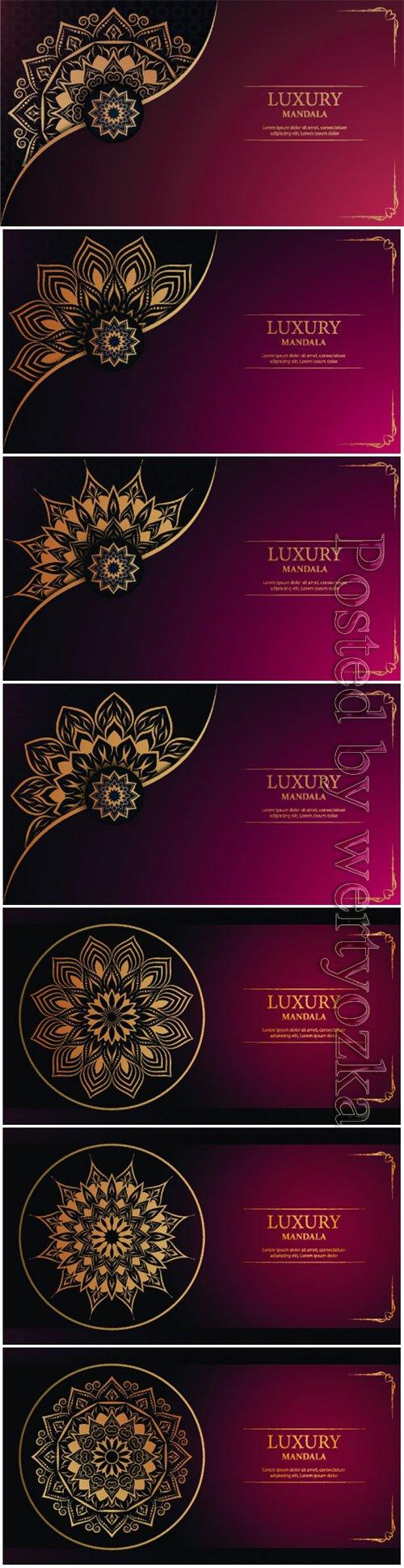 Luxury decorative mandala vector background # 2