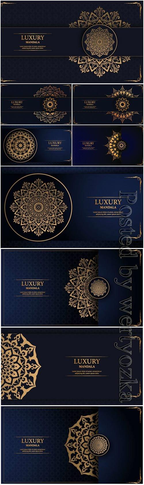 Luxury mandala arabesque ornamental vector background