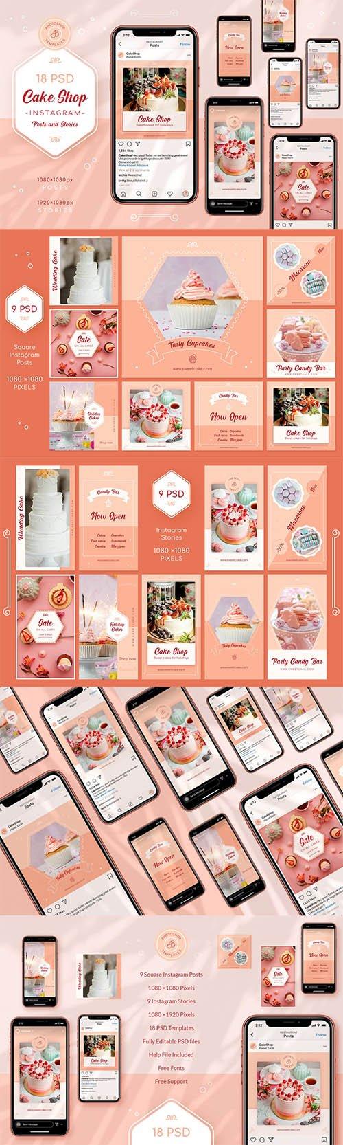 Cake Shop Instagram Posts & Stories