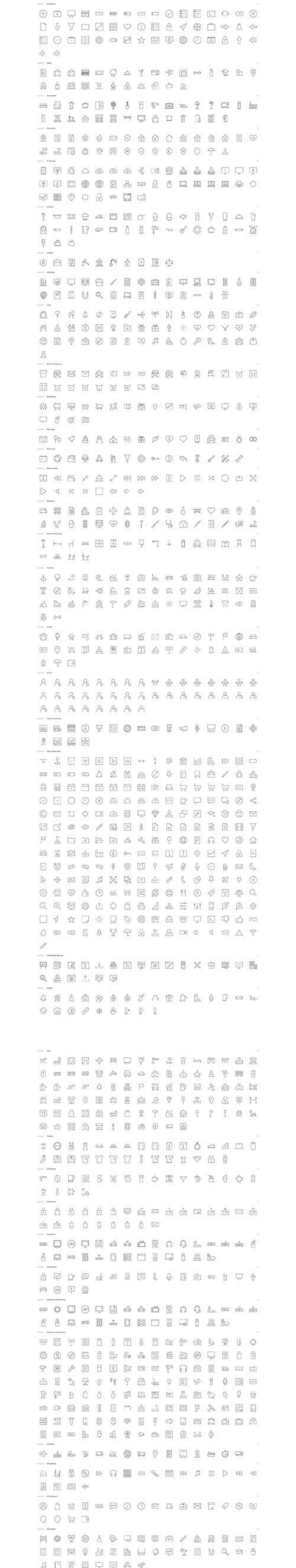Thin Icons – Mega Bundle – 3000+ Icons