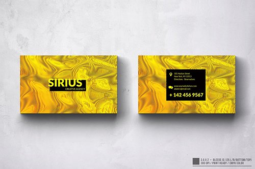 Sirius Abstract Colors Business Card Design