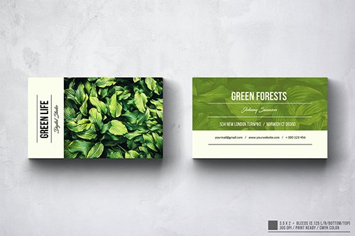 Green Life Photography Business Card Design
