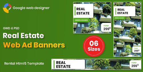 CodeCanyon - Real Estate Banners Google Web Designer v1.0 - 26239852