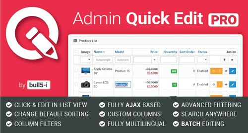 Admin Quick Edit PRO v6.2.0
