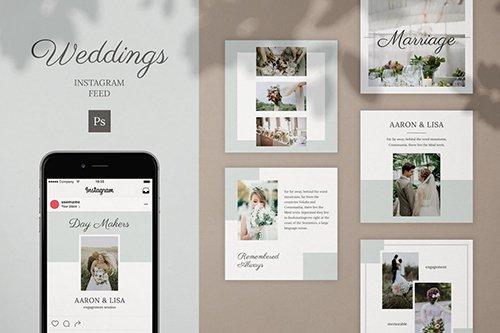 Wedding Instagram Feed Post Template