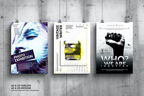 Music Event Big Poster Design Set