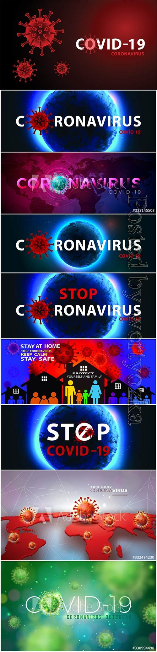 COVID 19, Coranavirus vector illustration sets # 28
