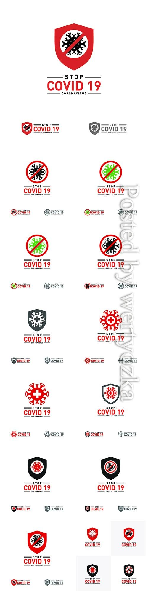 COVID 19, Coranavirus vector illustration sets # 23