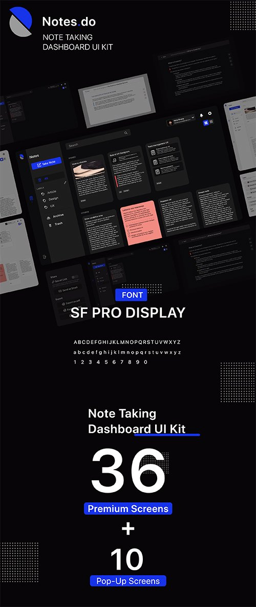 Notes.do Notes Taking Dashboard UI Kit