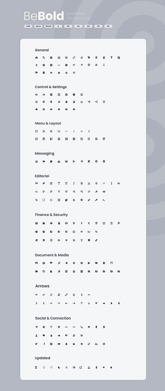 BeBold Essentials UI Icon Pack
