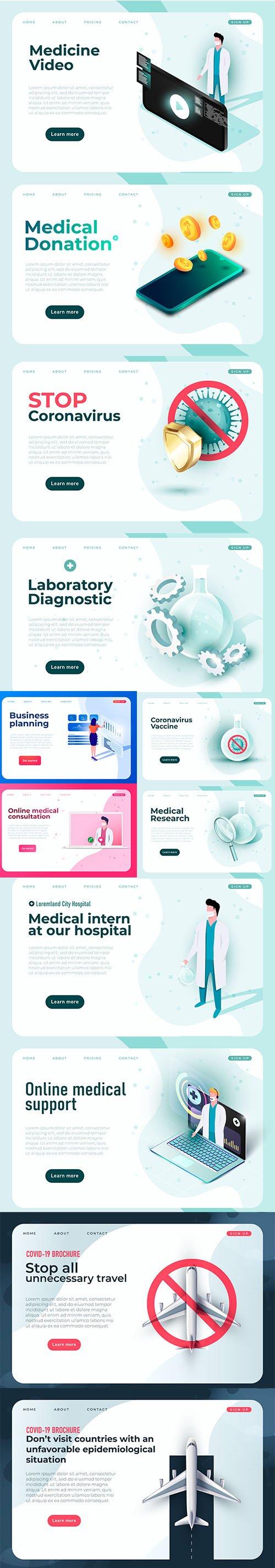 Online Medical Support Medicine Banner Template