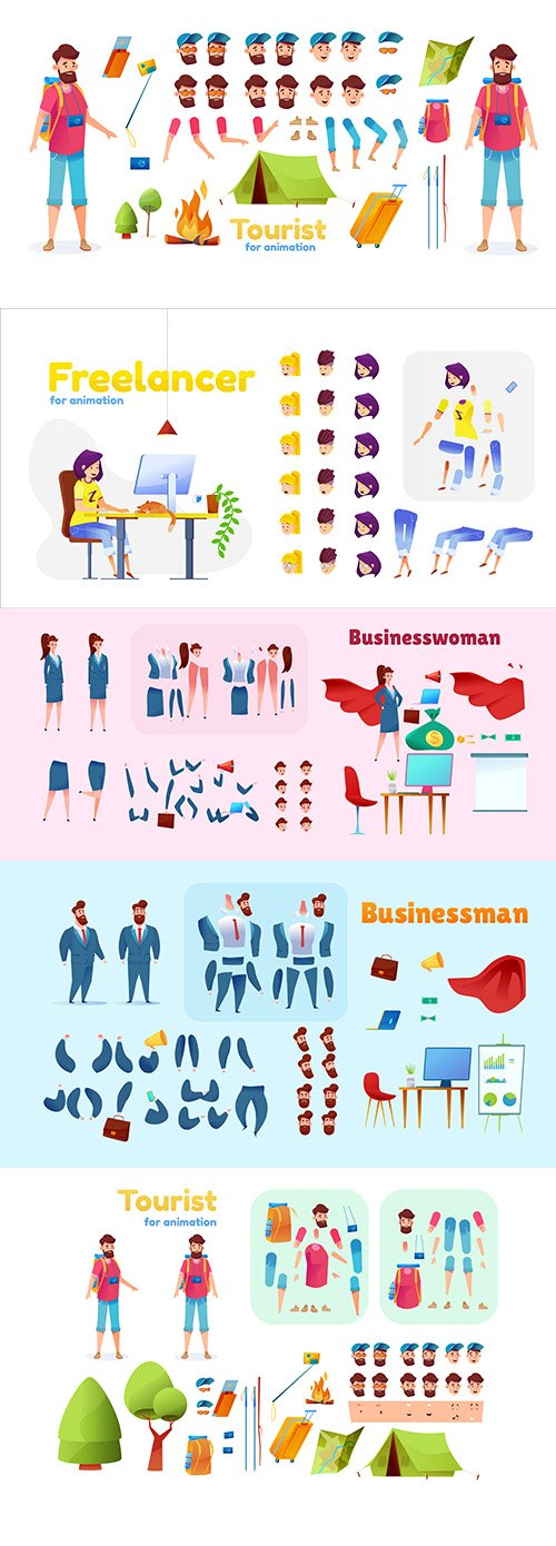 Business People Cartoon Character