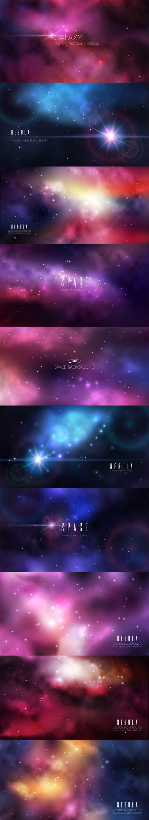 Space Universe Background Set