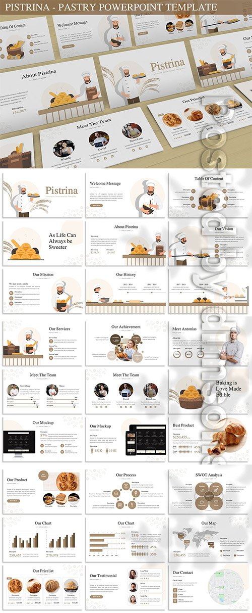 Pistrina - Pastry Powerpoint Template
