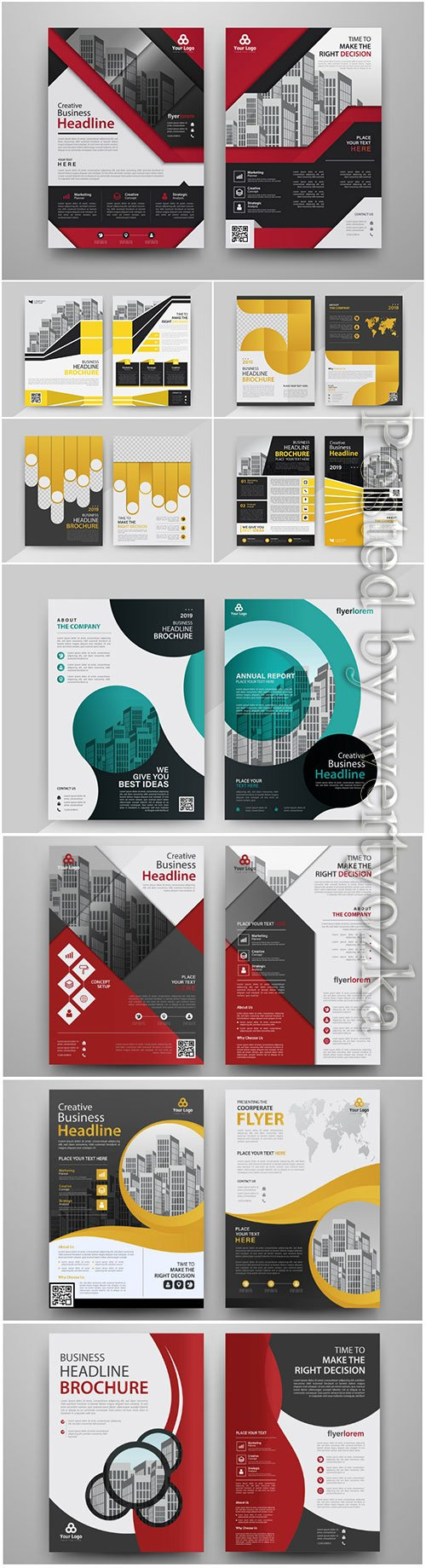 Vector modern brochure design template