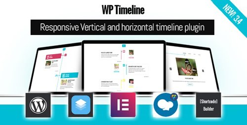 CodeCanyon - WP Timeline v3.4.1 - Responsive Vertical and Horizontal timeline plugin - 17664690