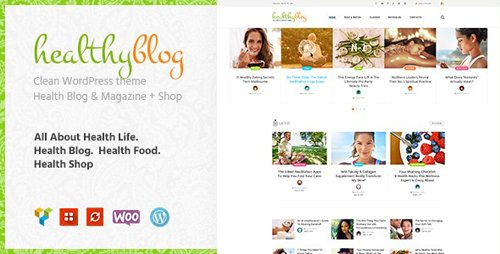 ThemeForest - Healthy Living v1.2.3 - Blog with Online Store WordPress Theme - 20488411