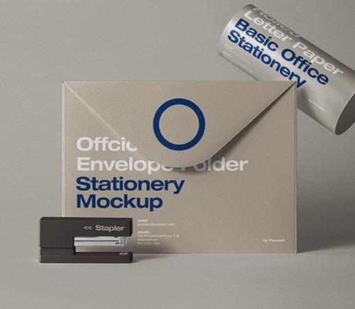 Envelope Folder Stationery Mockup