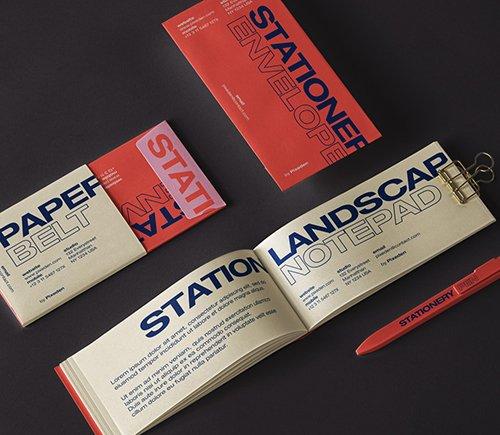 Notepad Stationery Mockup Set