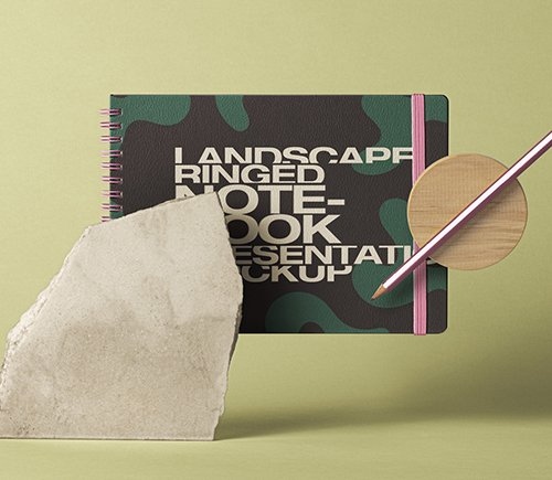 Landscape Notebook Mockup