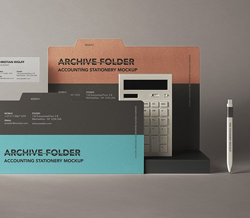 Stationery Folder Mockup