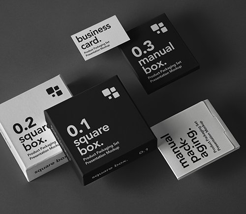 Product Packaging Mockup Set