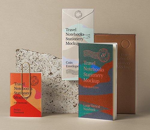 Travel Notebook Stationery Mockup 2