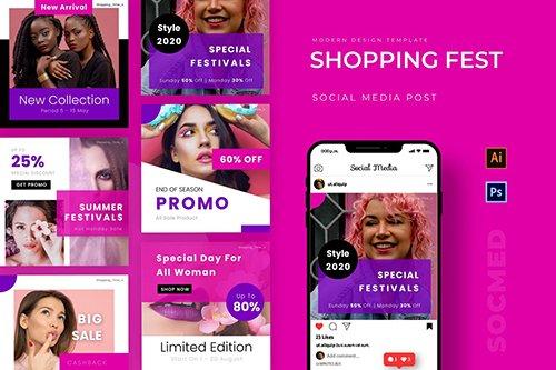 Shopping Fest Instagram Post