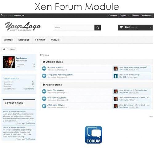 Xen Forum v2.7.5 - PrestaShop Module