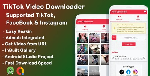 CodeCanyon - Tiktok, Facebook, Instagram video downloader -Download videos (Update: 2 October 19) - 24666942