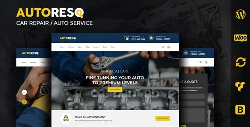 ThemeForest - Autoresq v2.1.8 - Car Repair WordPress Theme - 22307663