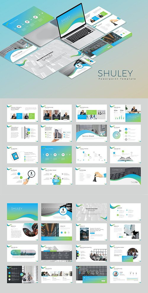 Shuley Powerpoint, Keynote and Google Slide Template