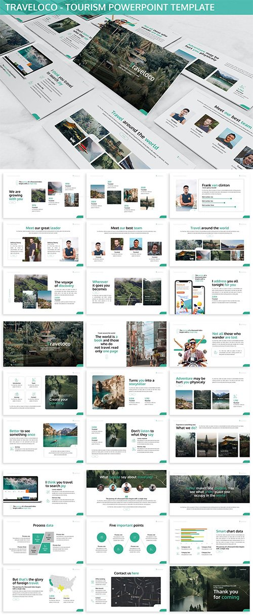 Traveloco - Tourism Powerpoint Template