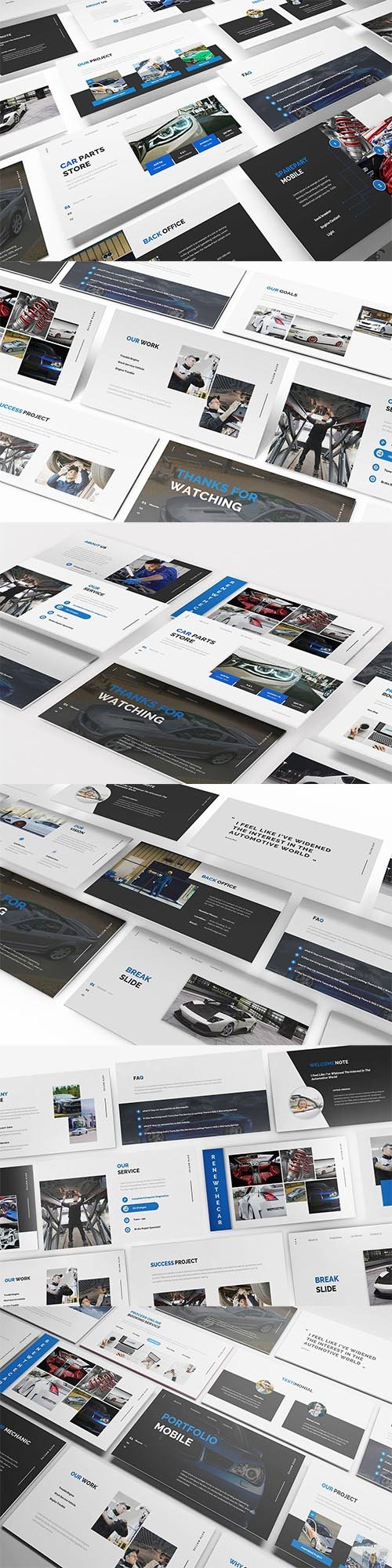 Car Parts Store Powerpoint, Keynote and Google Slide Template