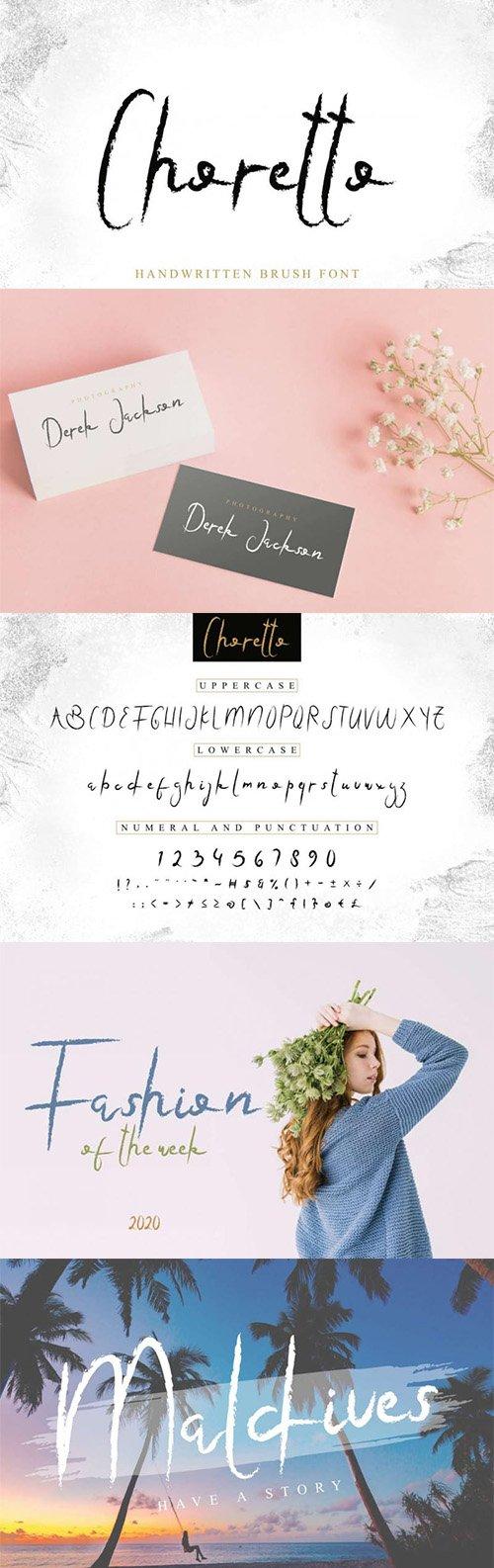 Choretto Handwritten Brush Script Font