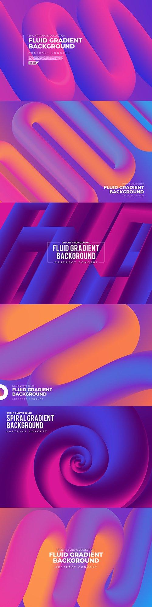 Fluid abstract gradient background design