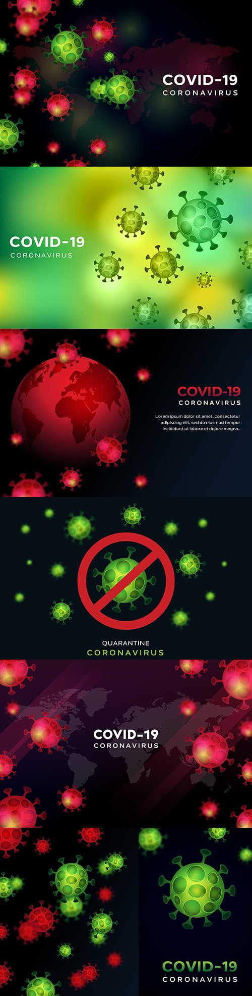 Bacterial infection and coronavirus Covid 19 background